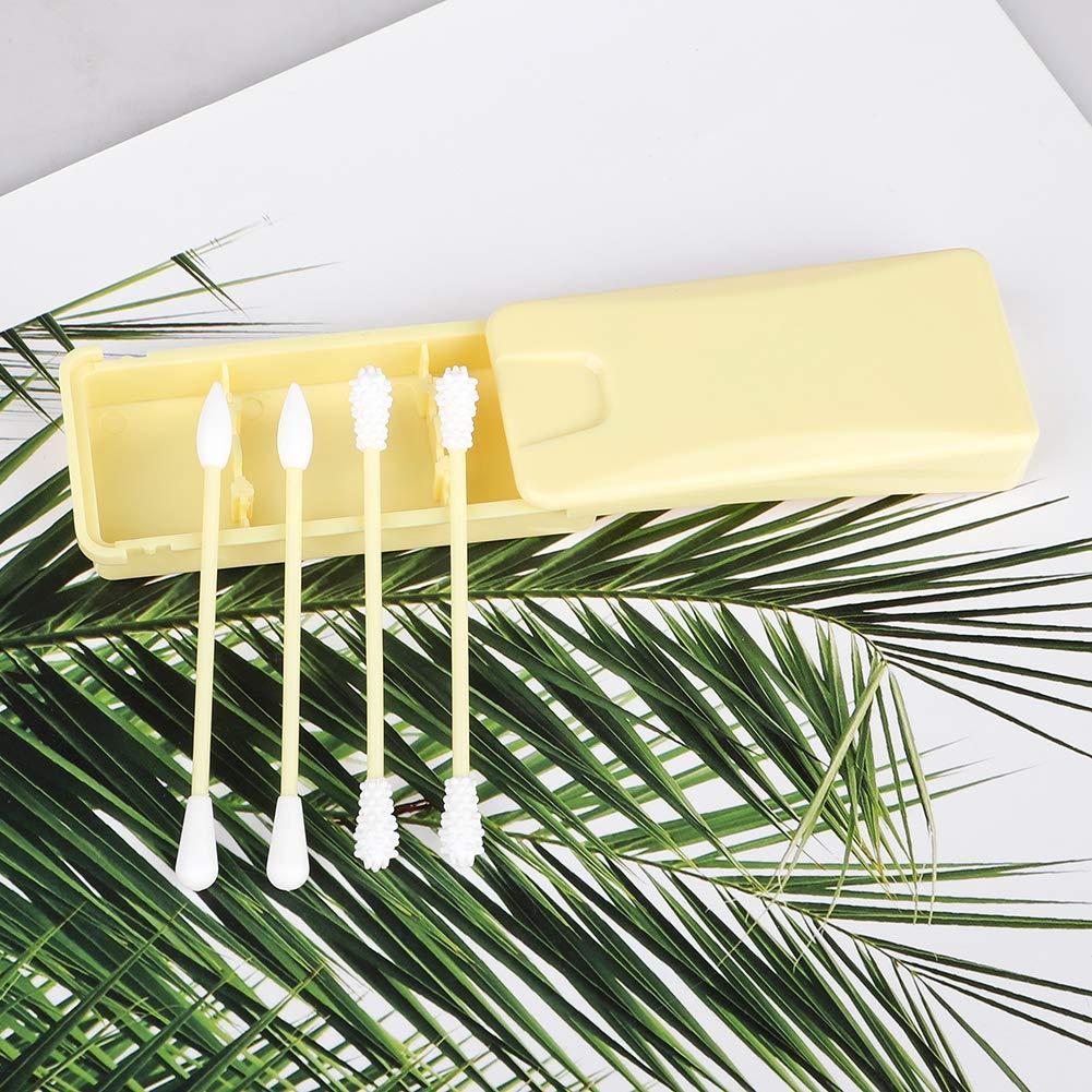 waschbar und tragbar Silikon Baumwolle Tupfer tragbar Reise waschbar Wattest/äbchen f/ür Ohrreinigung Make-up Beauty Treatment SH 8 St/ück tragbare wiederverwendbare Tupfer