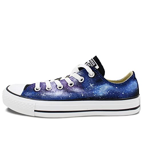 9dff110985 Converse Blue Purple Galaxy Space All Star Shoes Women Men Hand Painted  Sneakers Low Top Canvas  Amazon.ca  Shoes   Handbags