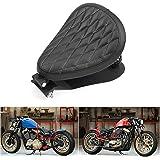 Amazicha 3 Inch Black Solo Seat Barrel Springs Bracket Base Plate Pan Mounting Kit Compatible for Harley Honda Yamaha Kawasak