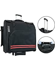 D'Luca Pro Series Accordion Gig Bag for 96/120 Bass Piano Accordions with Wheels, Black