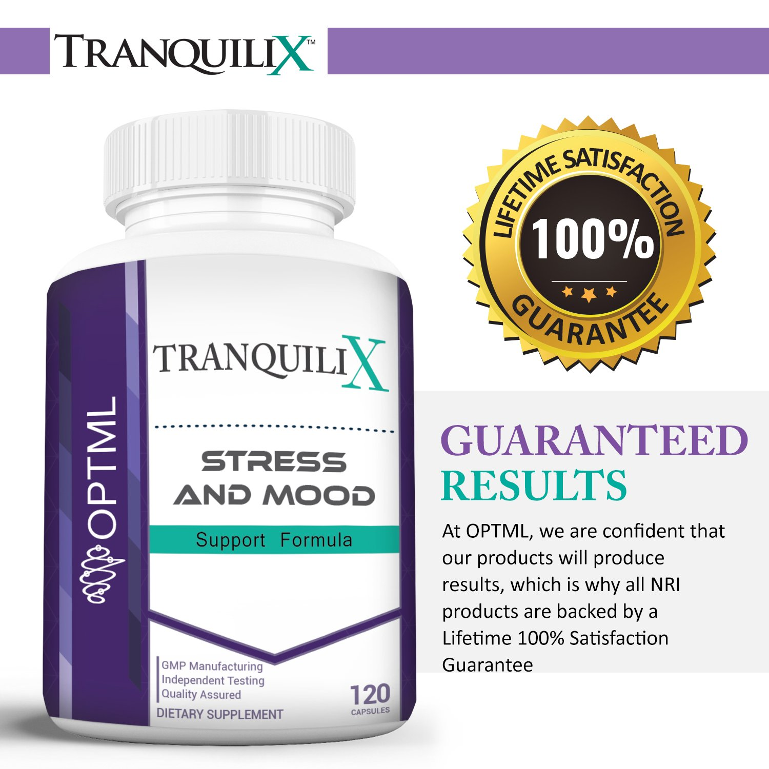 TranquiliX Anxiety and Stress Relief Formula, Advanced Anti-Anxiety Mood  Support, Sleep Aid, Reduce Panic