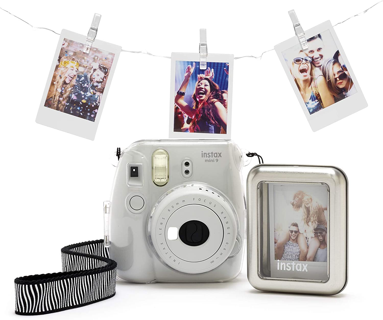 Fujifilm Instax Mini 9 Clear Accessory Bundle Kamera