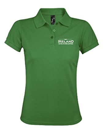 9938b2af3 100% Ireland Rugby Six Nations 2018 Grand Slam Winners Polo Ladies Green:  Amazon.co.uk: Clothing