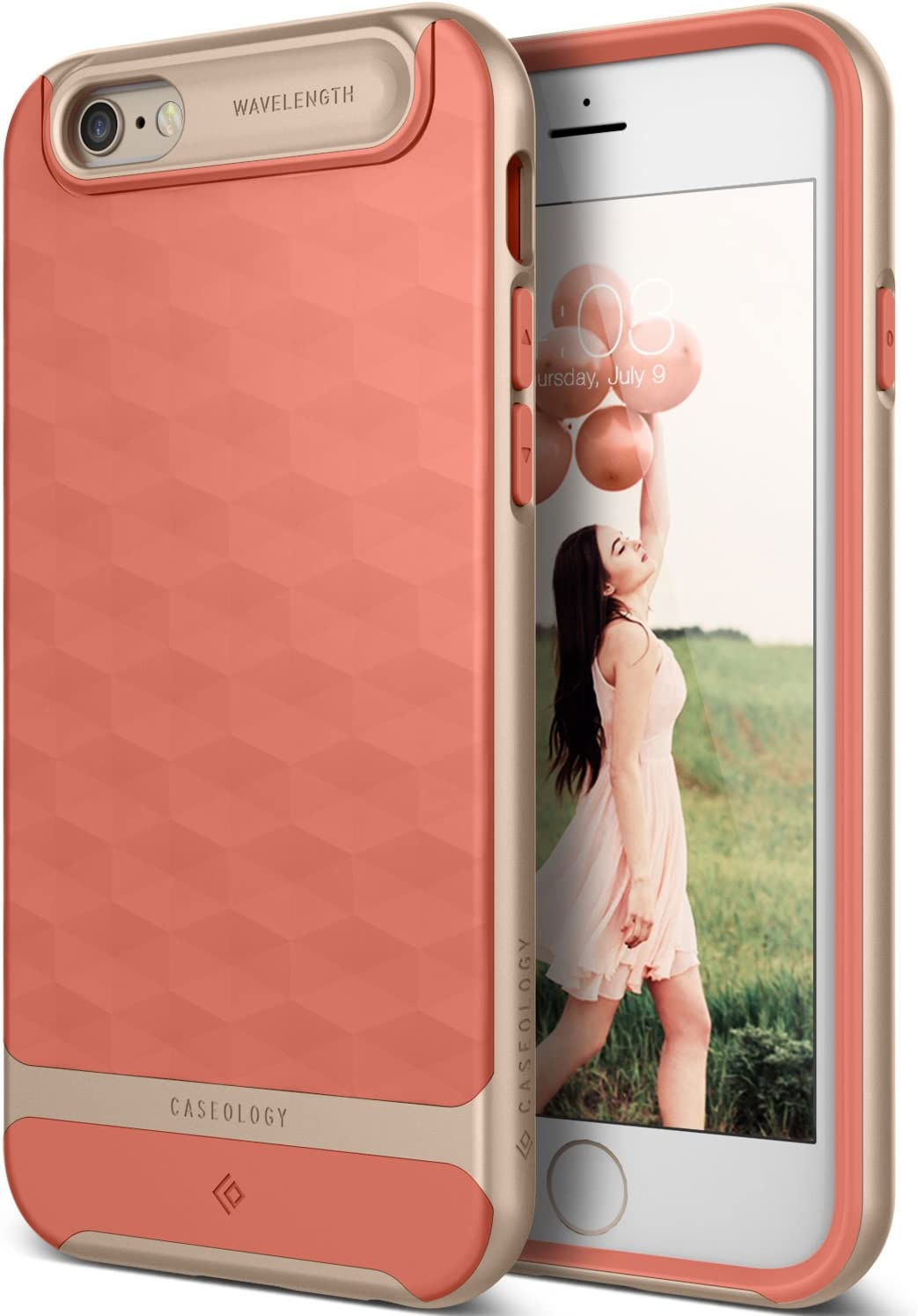 Caseology Parallax for Apple iPhone 6S Case (2015) / for iPhone 6 Case (2014) - Coral Pink