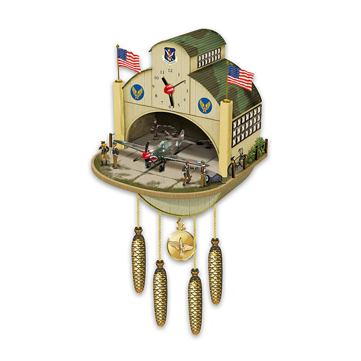 Cuckoo Clock: P-40 Flying Tiger Cuckoo Clock by The Bradford Exchange