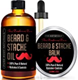 Pure Body Naturals Hydrating Beard and Stashe Duo Kit, Oil (2 oz.), Balm (1.75 oz.)