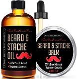 Amazon Price History for:Beard Oil & Beard Balm Mens Gift Set ( 2 oz + 1.75 oz) Mustache Oil Beard Kit All Natural Beard Conditioner ( Beard Oil - Argan & Apricot Oil ) ( Balm - Musk & Amber) by Pure Body Naturals