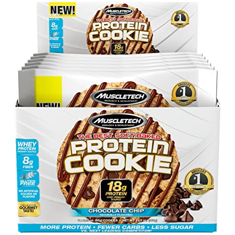Muscletech Protein Cookie Chocolate Chip - 6 Barras