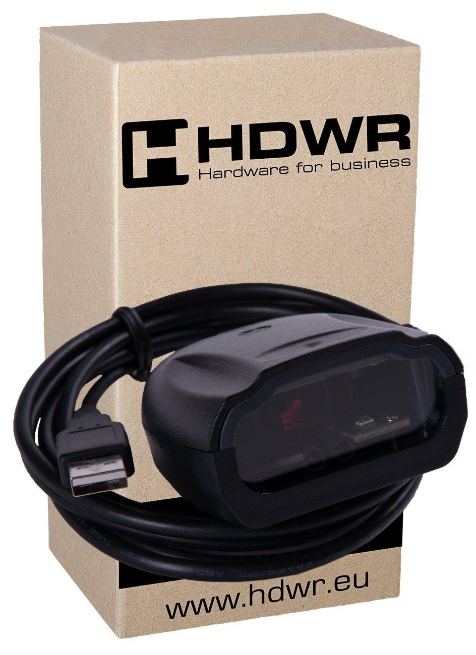 Fisso USB professionale automatico lettore di codici a barre, scanner di codici, Nero avanzata Molto veloce, HD-S80 HDWR