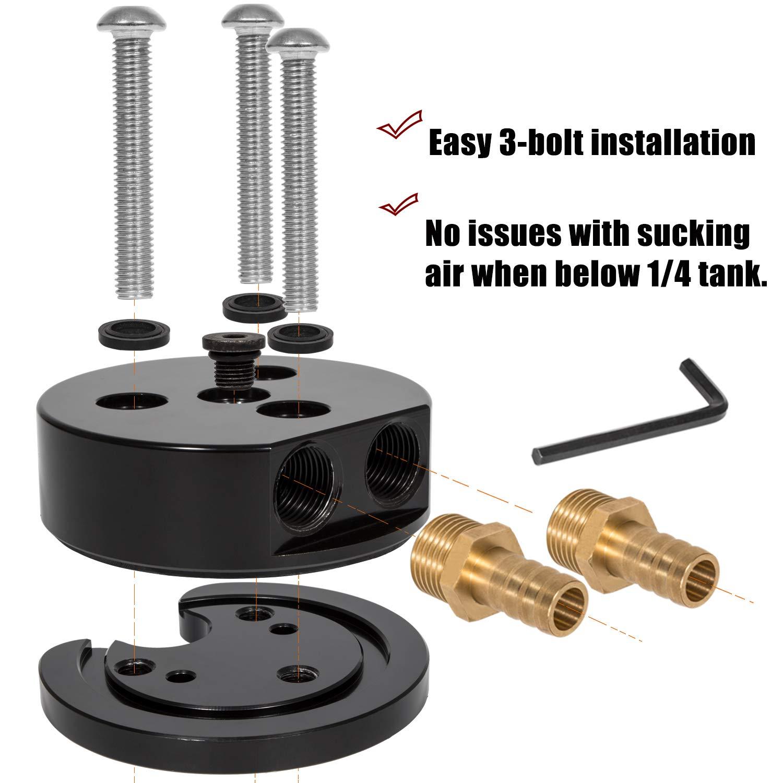 No Tank-Drop Fuel Tank Sump Kit 2 Port Sump etc FASS Integrated Return Fuel Sump For Airdog