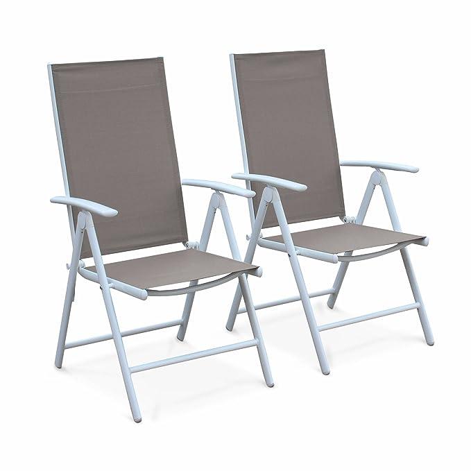 Mobilier de jardin Chaises Alices Garden Lot de 2 fauteuils ...