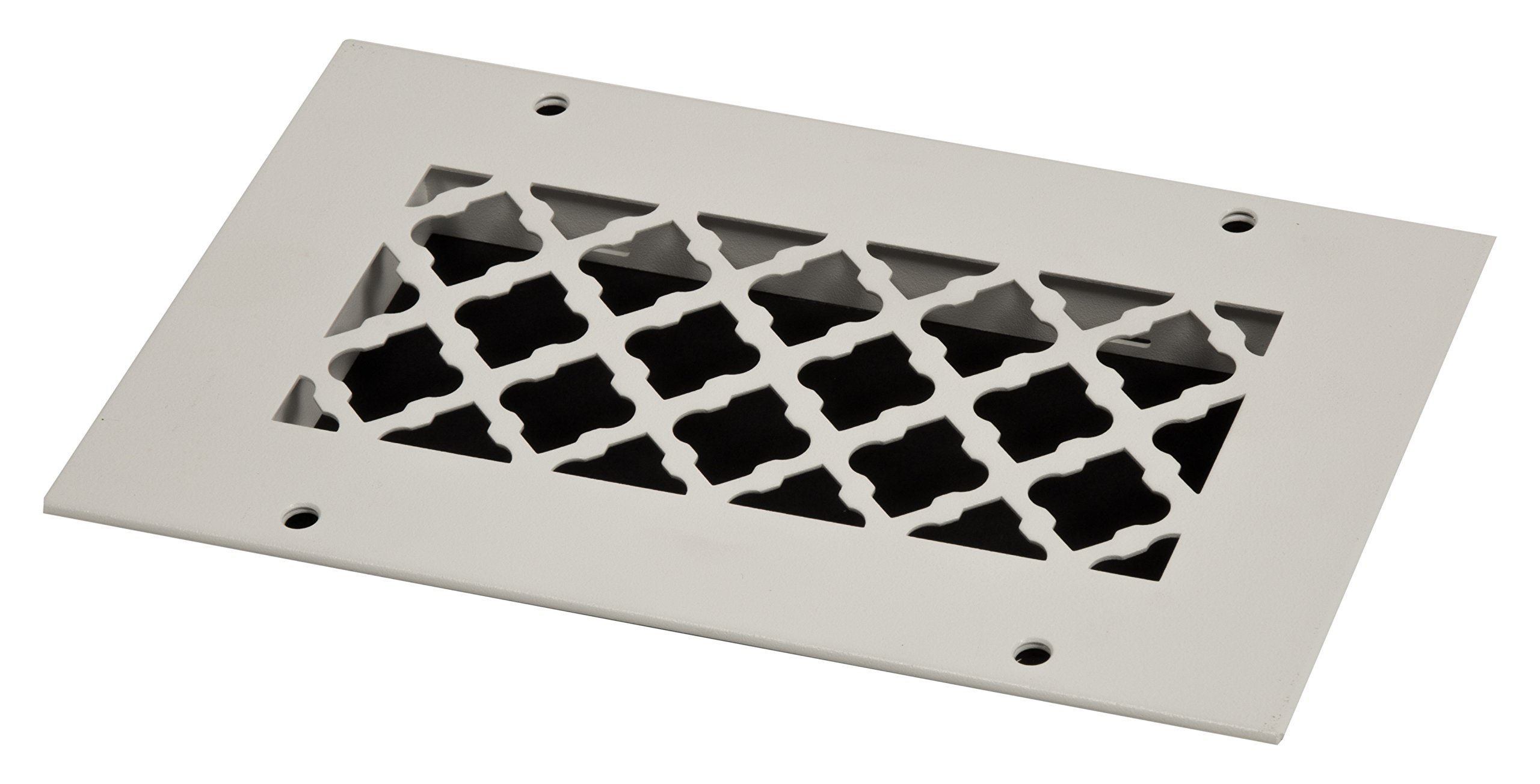 SteelCrest BTU8X4RWHH Bronze Series Designer Wall/Ceiling Vent Cover, with Mounting Screws, White by SteelCrest