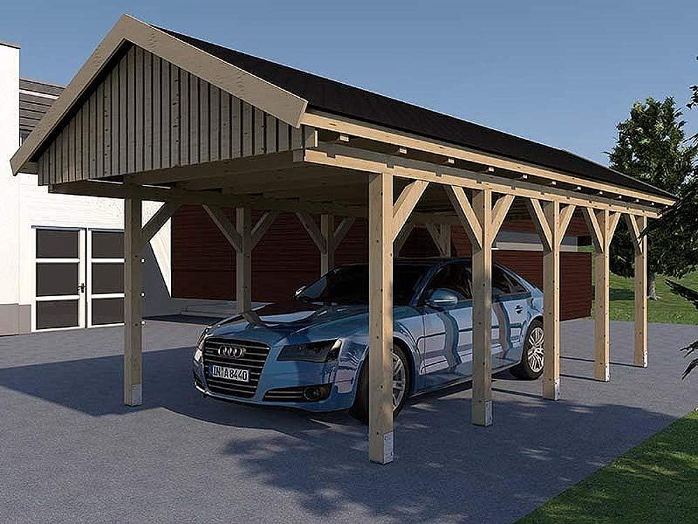 CarPort tejado Le Mans III 400 cm x 800 cm Kvh montar construcción de madera maciza: Amazon.es: Coche y moto