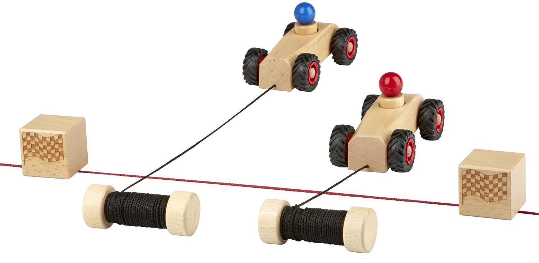 rewoodo Ribble Race - Holzspielzeug Holz Spielzeug ab 3 Jahren Outdoor Sandkasten für Draußen Kinderspielzeug ab 2 Jahren Kleinkind ab 1 Jahr Fahrzeuge & Schiffe