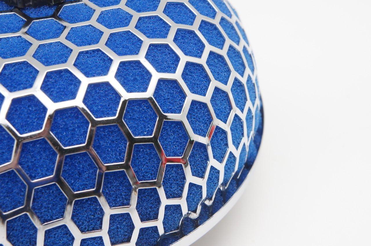 aspirazione da 3 pollici Oil-Free 76mm Autobahn88 Universale fungo alto flusso filtro di aspirazione Blu