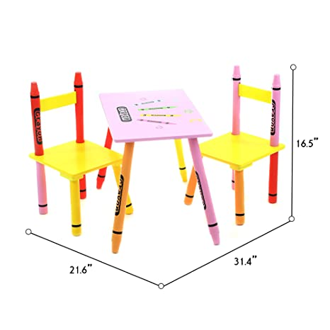 Incroyable Toddler Size   Bebe Style Kids Wooden Table And Chair Set For Kids   Crayon  Theme