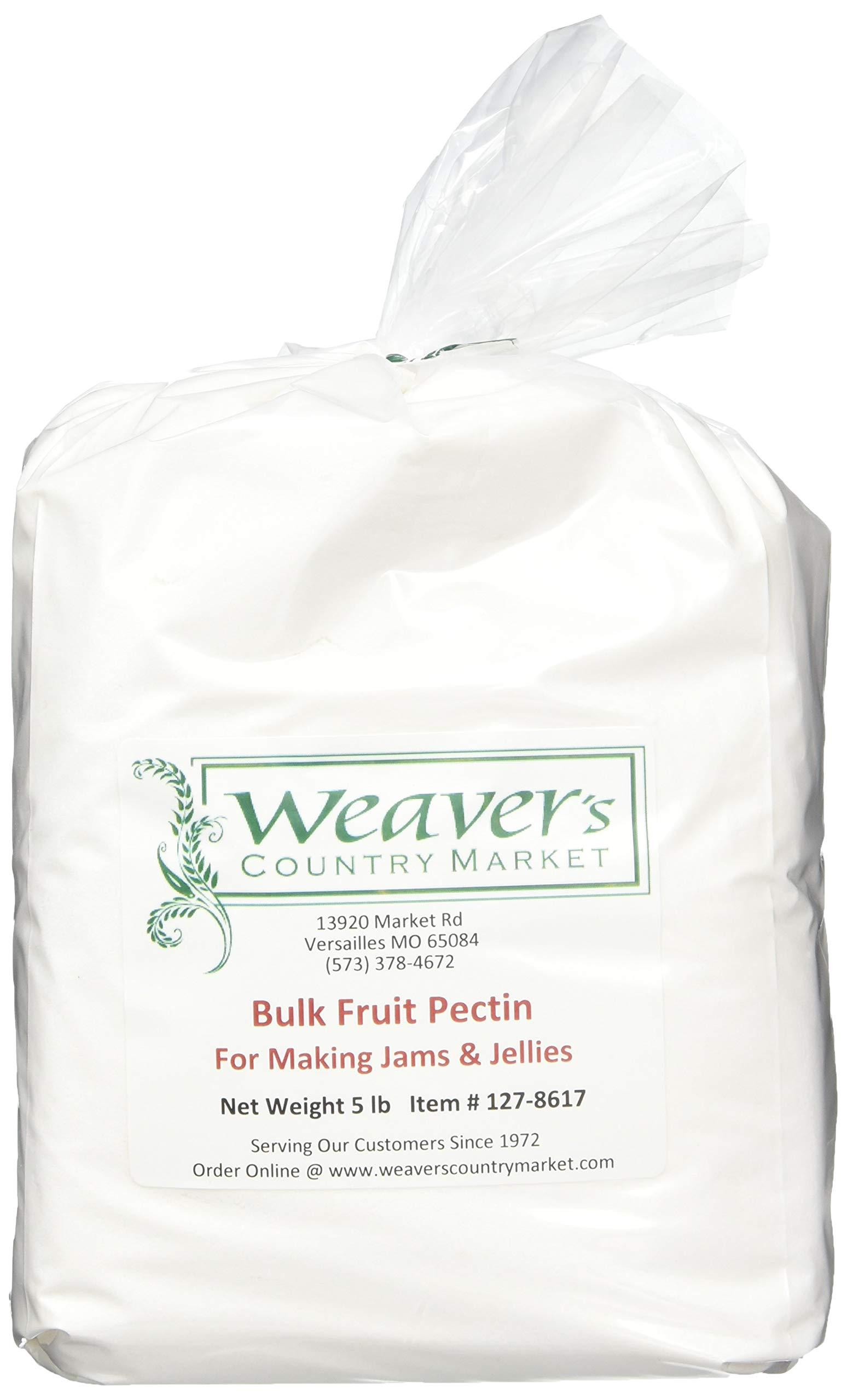 Weaver's Country Market Bulk Fruit Pectin Mix for Making Jams & Jellies (5 Lb. Plastic Bag)