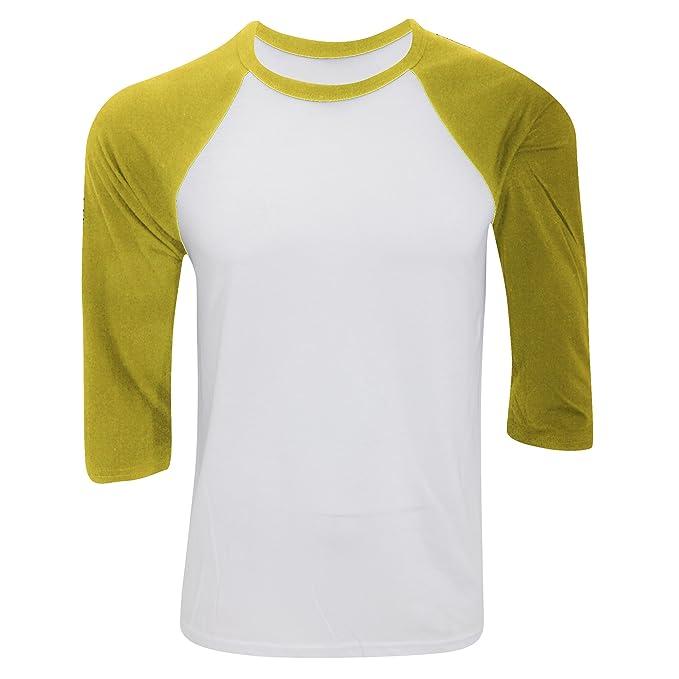 Canvas - Camiseta con manga 3/4 para hombre - Modelo baseball/Béisbol: Amazon.es: Ropa y accesorios