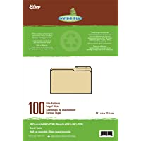 Hilroy Enviro-Plus Recycled File Folders, Legal Size, 100/box, Sand (65002)