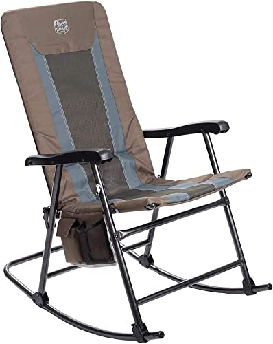 Timber Ridge Camping Rocking Chair Padded Folding Lawn Chair Heavy Duty Supports 300lb