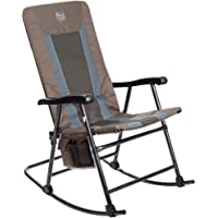 Timber Ridge Camping Rocking Chair Padded Folding Lawn Chair Heavy Duty Supports 300lbs, Portable for Outdoor, Patio, Lawn, Yard, Garden