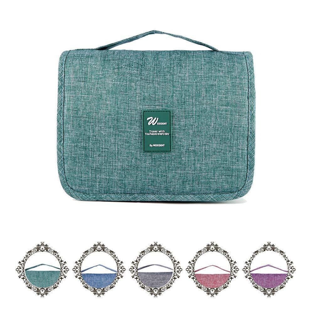 Heicat Travel Hanging Toiletry Bag – Organizer Cosmetic Makeup Waterproof Wash Green Bag for Bathroom Shower