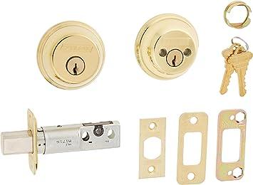 Schlage B62n 505 605 B62n 505 Double Cylinder Deadbolt Bright Brass Door Dead Bolts