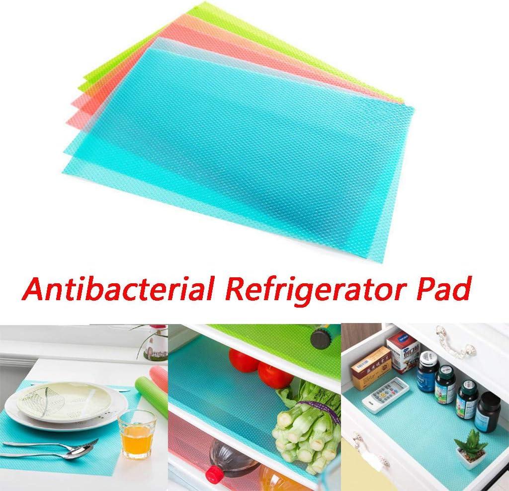 Antifouling Fridge Drawers Mats for Kitchen Cabinet Refrigerator Cupboard Antibacterial Refrigerator Pad Luccase 8 Pcs Fridge Liners Non Slip Anti-fouling Anti Frost Waterproof Mat