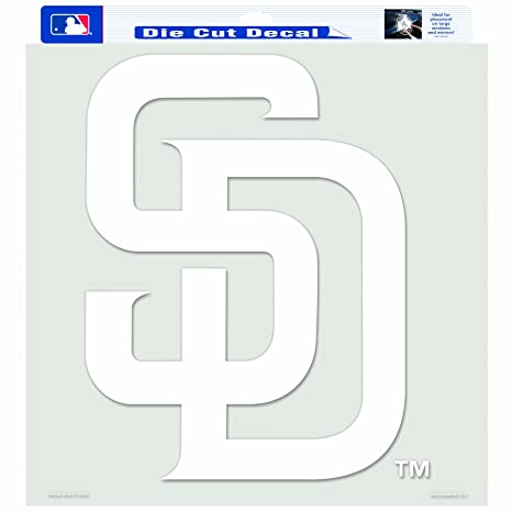 Mlb san diego padres 18 by 18 inch diecut decal