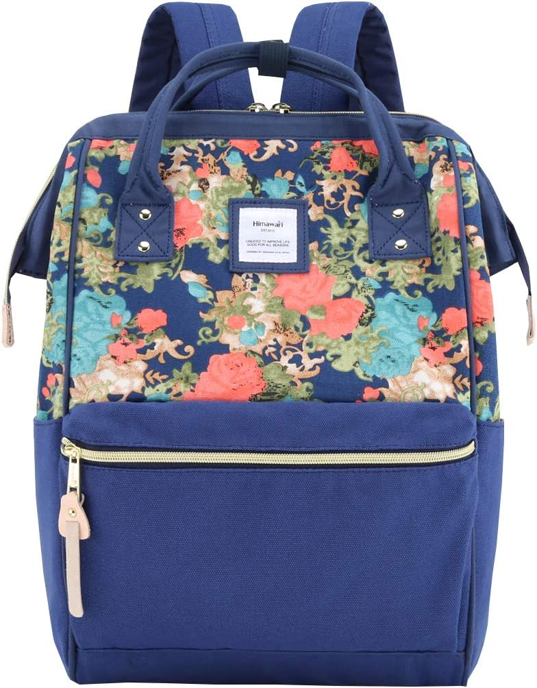 Himawari Travel Backpack Laptop Backpack Large Diaper Bag Doctor Bag Backpack School Backpack for Women&Men(9002-ZQH)