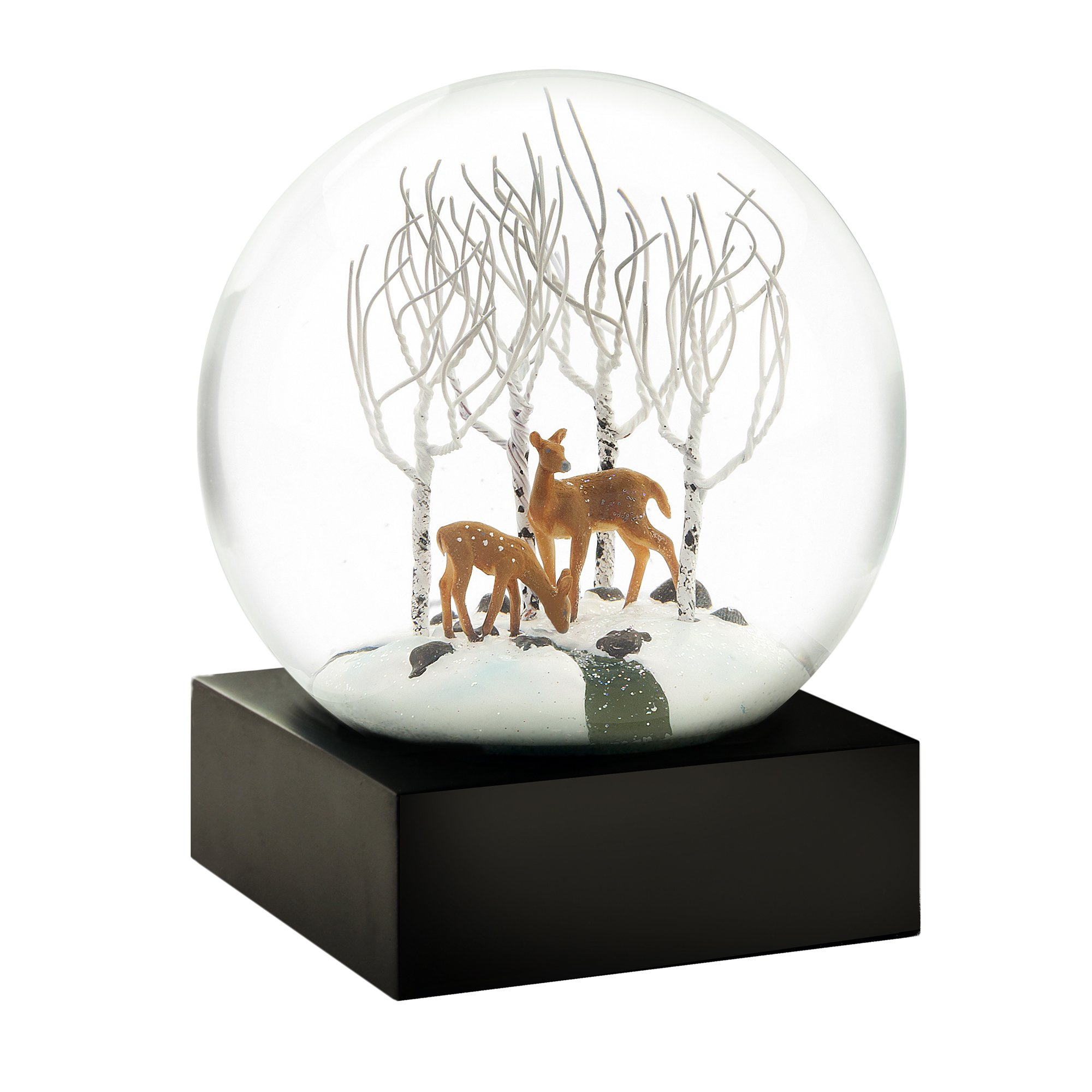 CoolSnowGlobes Deer in The Woods Cool Snow Globe
