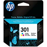 HP 301 - Cartucho de tinta Original HP 301 Tricolor para HP DeskJet, HP OfficeJet y HP ENVY