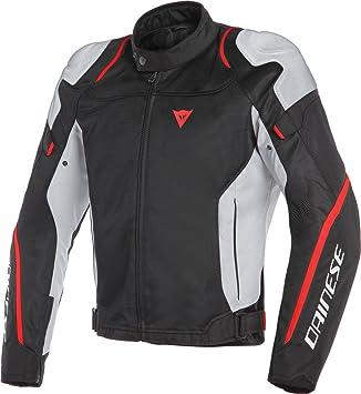 Dainese 1735201-Z28-58 Chaqueta para Moto, Negro/Gris Glacier/Rojo, 58: Amazon.es: Coche y moto