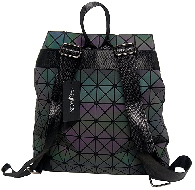 Amazon.com: Roffatide Geometric Luminous Rhombus Laser Sequins Backpack Shoulder Bag Satchel Rucksack for Women and Men Triangular: Roffatide