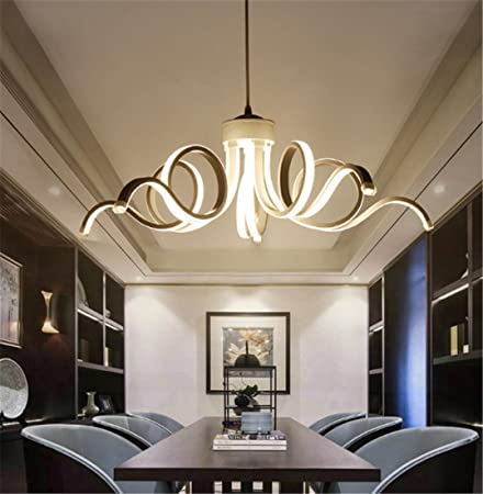 Pendant Light LED Acrylic Chandelier With Artistic Curve PedentCeiling For Bedroom Living Room