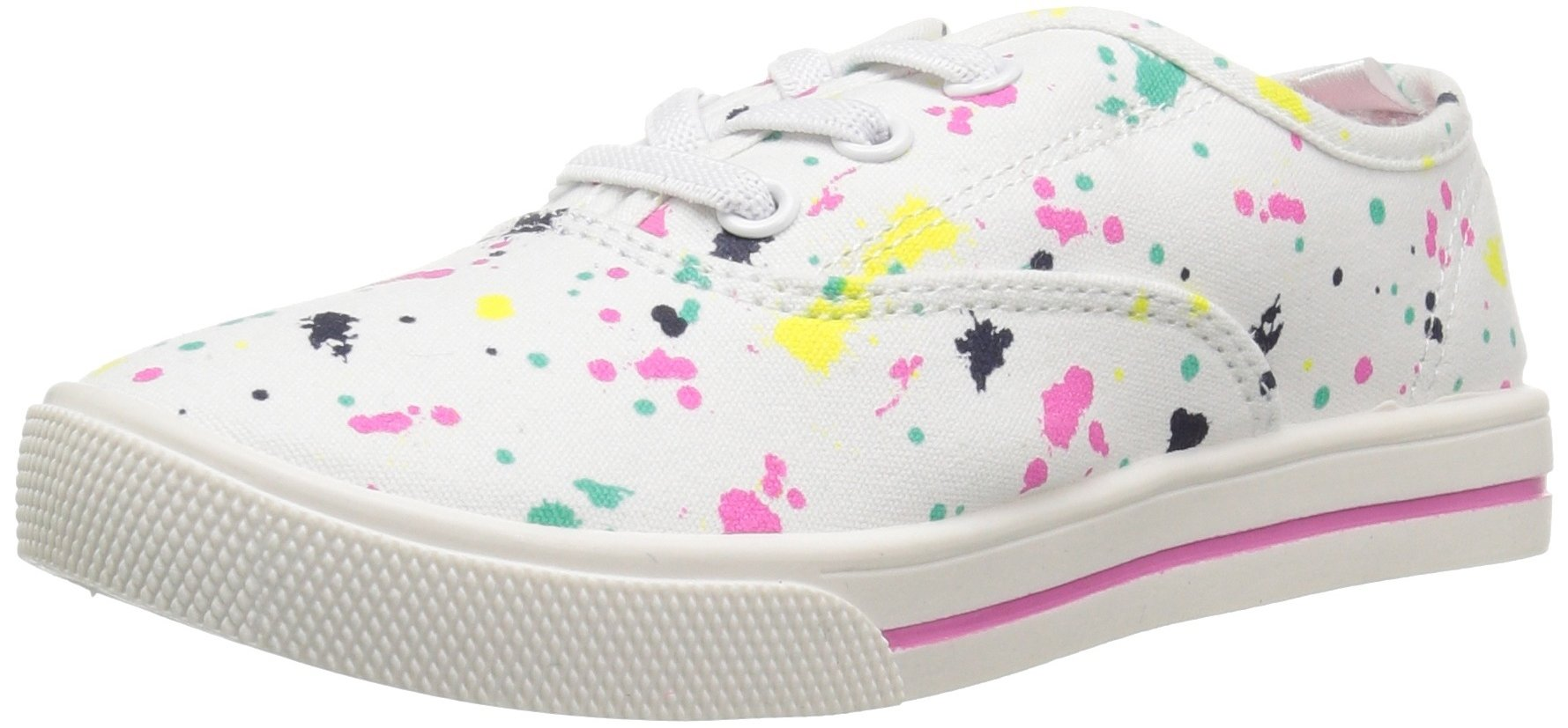Carter's Piper Girl's Casual Sneaker, White/Print, 3 M US Little Kid by Carter's (Image #1)