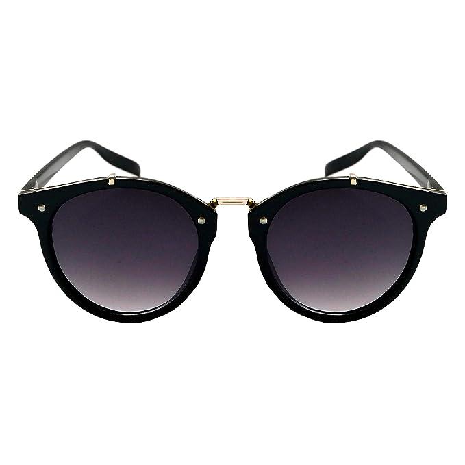 58b172fb89f Anca Eyewear - WEBSTER - Womens Mens Unisex Round Modern Fade Lens Acrylic  Black Gold Purple