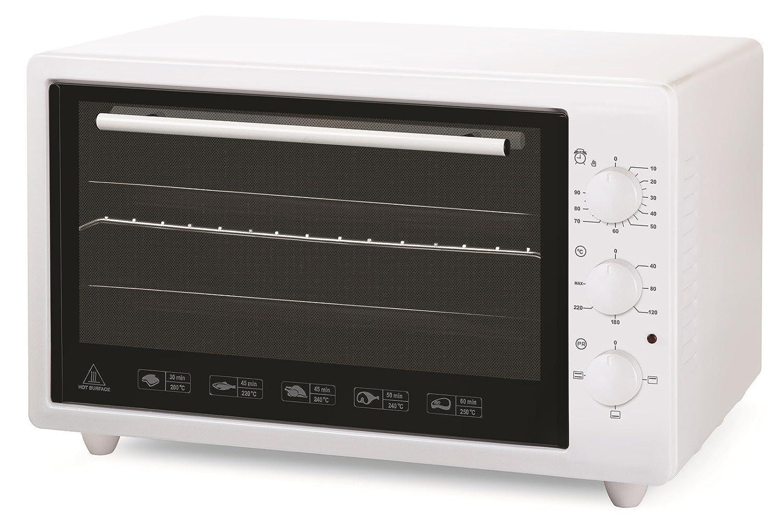 Vitrokitchen 3600B - Horno (36 L, 1400 W, Eléctrico, 1400 W, Acero esmaltado, 520 mm) Color blanco