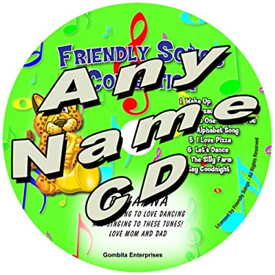 "Gombita Enterprises Children Name Personalized Music CD - (Any Name) - Friendly Songs Collection - Music CD and ""New"" Digital Content is HERE! - - Customize When Ordering (Any Name CD): Home & Kitchen"