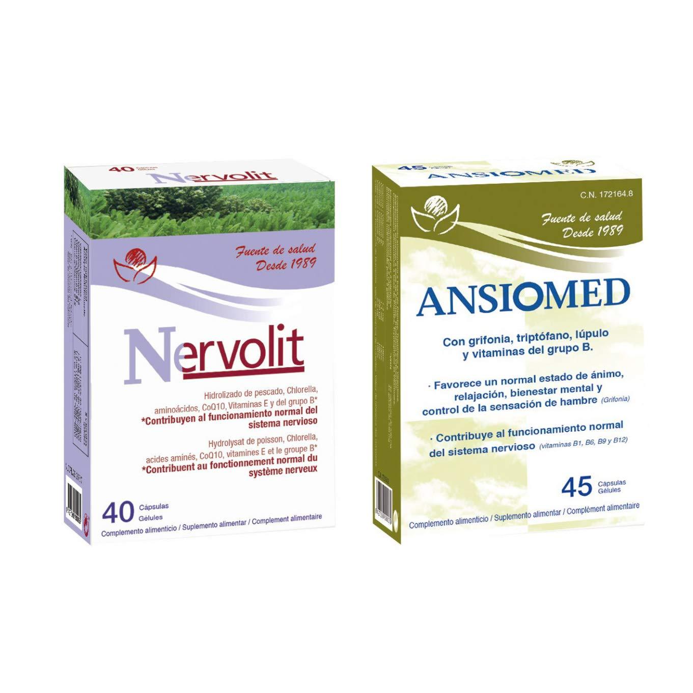 Bioserum - Pack Ansiomed 45 Cápsulas + Nervolit 40 Cápsulas ...