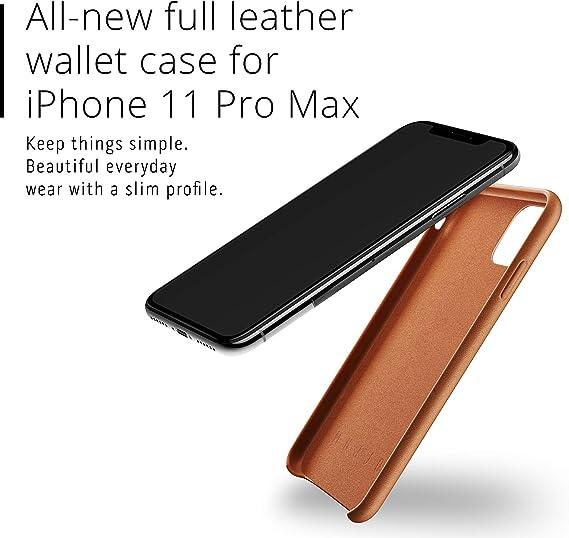 Custodia in Pelle iPhone 11 Pro Max Mujjo Wallet