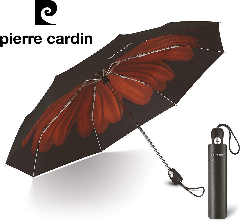 Easymatic Int/érieur Flower Rouge Parapluie Pierre cardin