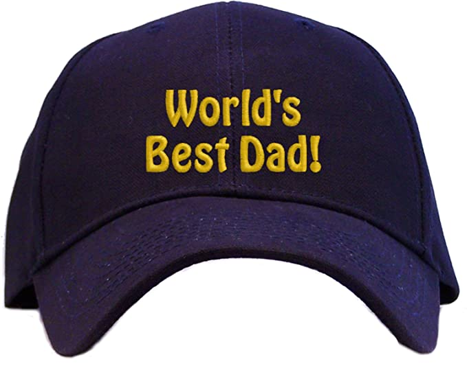 Amazon.com  World s Best Dad Embroidered Baseball Cap - Navy  Clothing 2e78c97a6c1