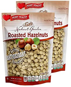 Nature's Garden Roasted Hazelnuts - Natural & Functional Snacks |Heart-Natural| Delicious & Tasty Flavor - Premium Quality - 26 Oz. (Pack of 2)