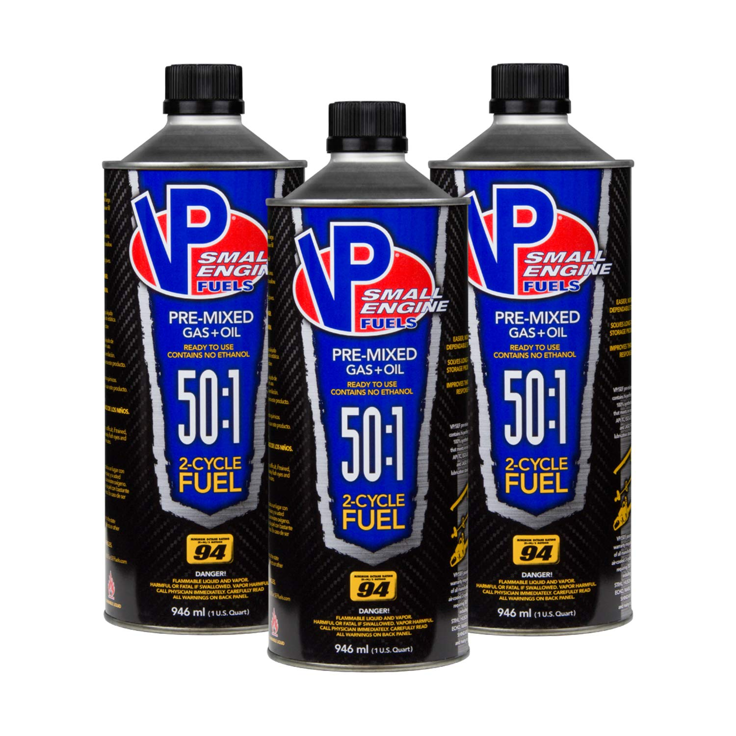 VP Racing Fuels 6235 50:1 SEF 2 Cycle Pre-Mixed Gas + Oil Fuel, Ready to Use, 3 Quarts