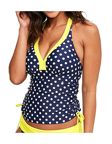 2e8fe7b9a1e87 Figleaves Womens Tuscany Spot Underwired Halter Size 32D in Navy/Yellow:  Amazon.co.uk: Clothing