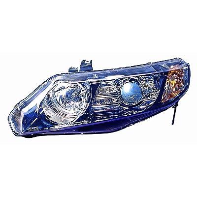Depo M17-1101P-AS2 Honda Civic Sedan Black LED Headlight Projector: Automotive