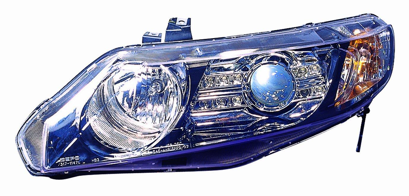Depo M17-1101P-AS2 Honda Civic Sedan Black LED Headlight Projector