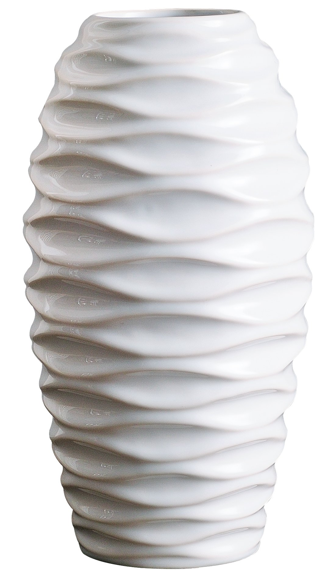 Jusalpha 11.6 Inches Ceramic Vase, Ideal Gift for Weddings, Party, Home Decor, Office Decor #03 (Large, White) - 【PREMIUM QUALITY】Always use the Material of the best Quality - Made of high quality ceramics, produced in China. 【MINIMALIST STYLE】Provides a modern & stylish sense to accentuate the personality of your home decor. 【DAZZLING GIFT】: This classic design will complement traditional and contemporary tastes, which has made it a popular gift for weddings, holidays and other special occasions. - vases, kitchen-dining-room-decor, kitchen-dining-room - 71SK2f9y2qL -
