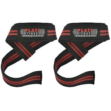 Correas de elevación por placa Fitness Products- uso para levantamiento de pesas, levantamiento de